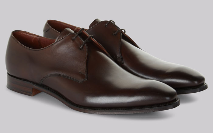 Английские ботинки Cheaney Shoes Brown Plain Toe Derby Shoes