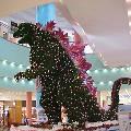 Японцы из новогодней ёлки сделали Годзиллу