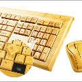 Экологичная беспроводная компьютерная клавиатура и мышь из бамбука