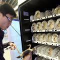 В Китае появились автоматы по продаже живых крабов