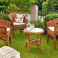 Плетеная садовая мебель – лучшее решение для загородных участков