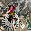 Российские экстремалы сделали selfie на высоте более 400 метров