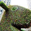 В Нью-Йорк приехала необычная «зелёная» скульптура Split-Rocker