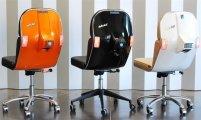 Офисное кресло BV из скутера Vespa от компании Bel&Bel: мебель с пробегом