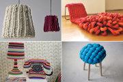Обзор оригинальной мебели и предметов интерьера с элементами ручной вязки