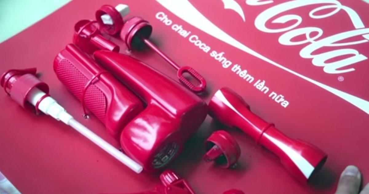 Идеи вторичного использования пластиковых бутылок от компании Coca-Cola