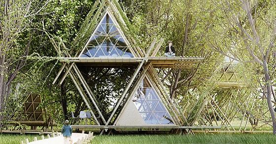 """""""Наедине с птицами"""" - проект отеля, сделанного из бамбука"""