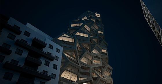 Любителям геометрии: проект жилой башни с фасадом из многогранников
