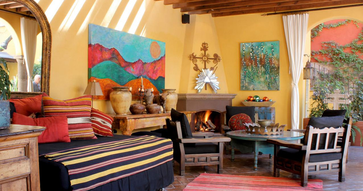 20 поразительных гостиных в зажигательном мексиканском стиле
