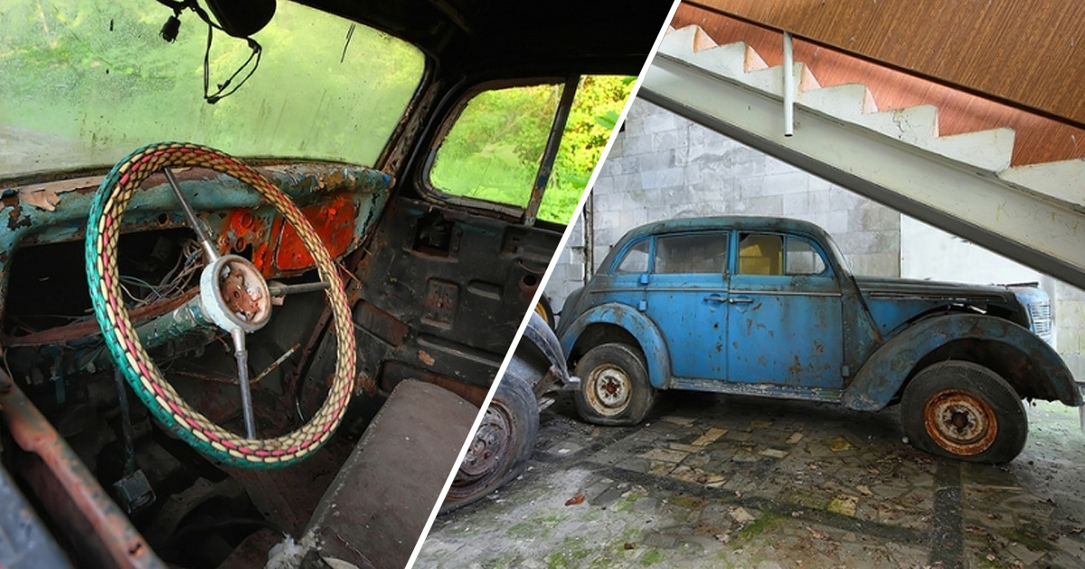 23 фото с таинственного кладбища старых автомобилей в Подмосковье