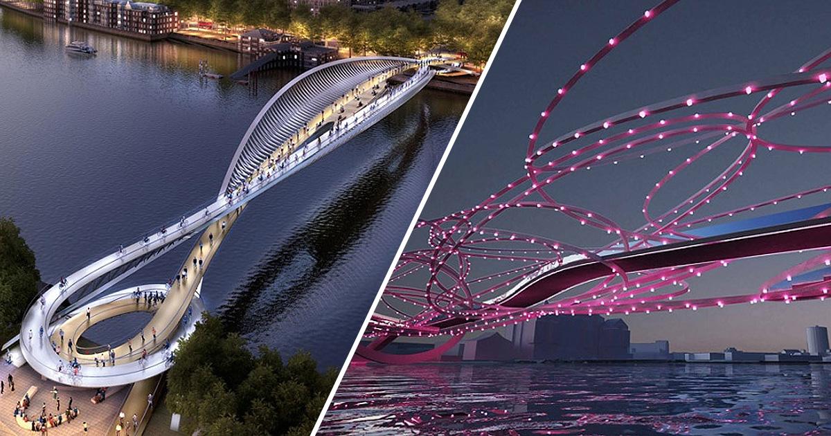 10 самых оригинальных проектов пешеходного моста в Лондоне