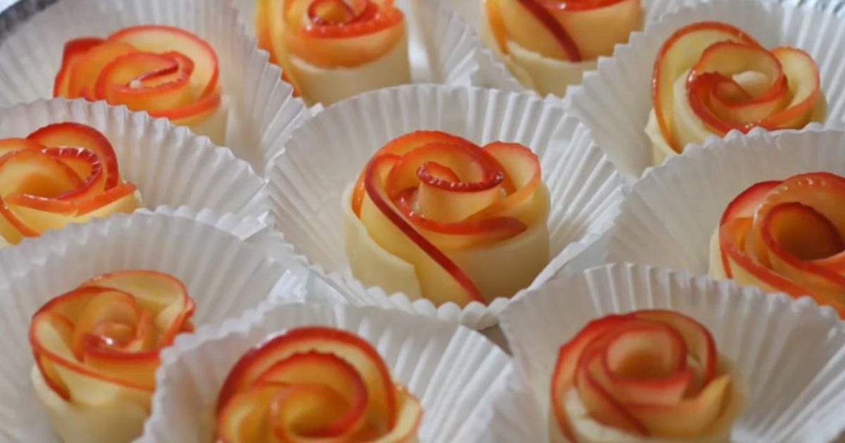 Розы из яблок: как приготовить самый быстрый, легкий, красивый и вкусный десерт к приходу гостей