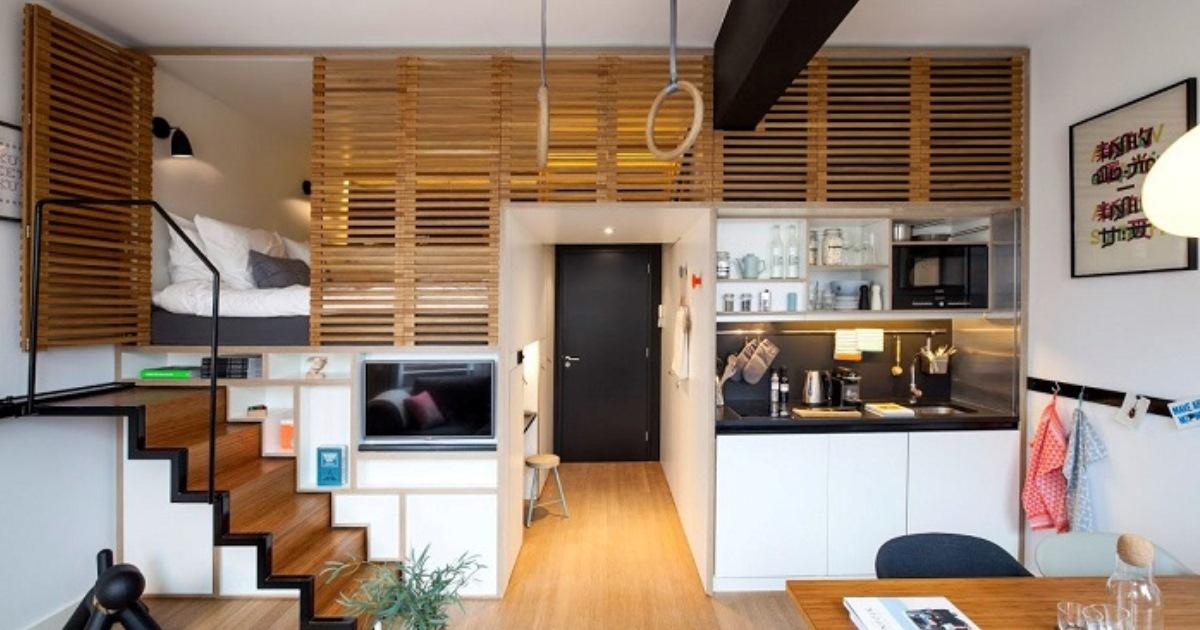 Съемное жилье площадью всего 25 кв. метров: отличный вариант для тех, у кого должно быть все под рукой
