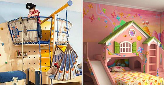 17 фантастических примеров обустройства детской комнаты