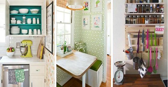 17 простых идей организации пространства маленькой кухни