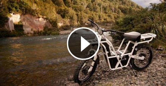 Супер экономичный «зелёный» мотоцикл-вездеход, позволяющий перевозить поклажу