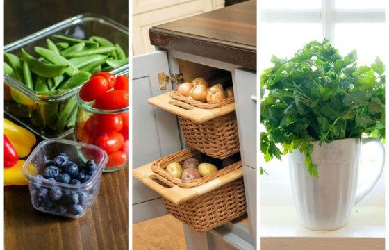 Как хранить овощи и фрукты: 10 золотых правил