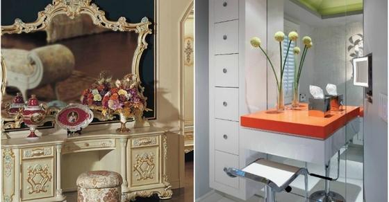 Дамский будуар: 15 роскошных туалетных столиков от лучших дизайнеров