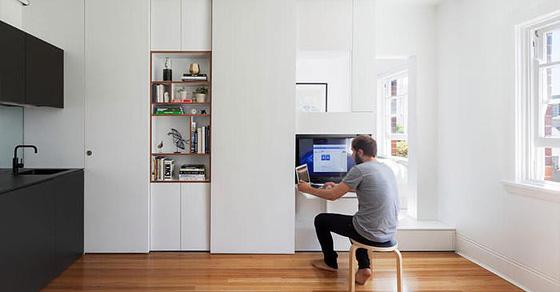 Как спрятать спальное место в однушке так, чтобы его не заметили гости: реальный пример из Австралии
