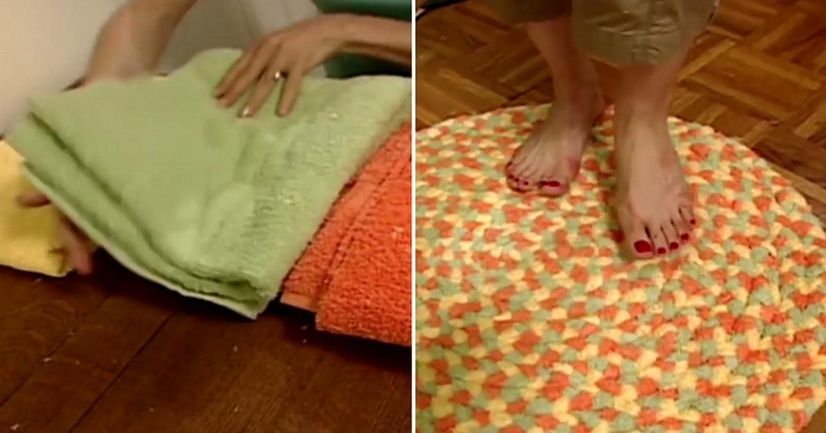 Очень красивый и легкий способ использовать состарившиеся банные полотенца