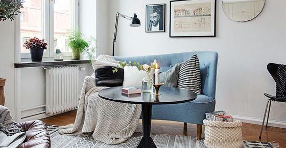 Как сделать малогабаритку просторной и уютной: 45 квадратных метров в Швеции