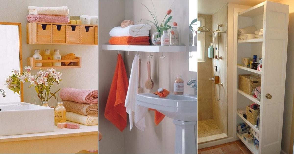 Рациональные идеи, как и куда в ванной спрятать банные принадлежности
