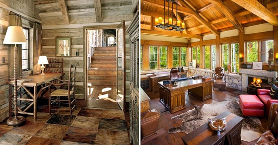 Домашние офисы в деревенском стиле: 18 отличных примеров оформления