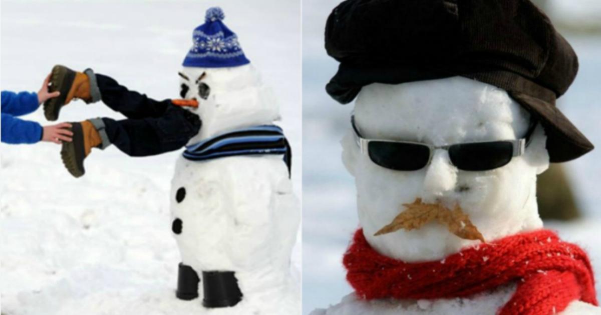 17 креативных снеговиков от людей с отличным чувством юмора