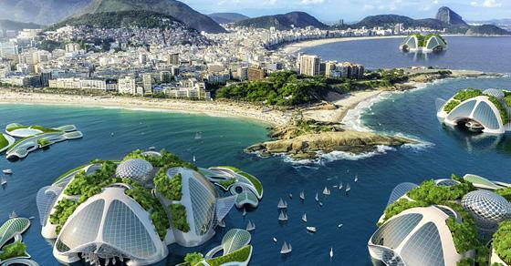 Будущее - за городами на воде: амбициозный проект жилого комплекса, распечатанного на 3D-принтере
