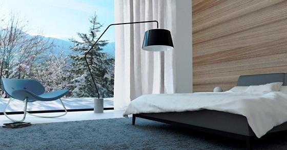 19 уютных спален с чарующими зимними видами из окна