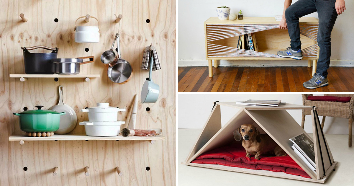 18 идей и примеров, как из обычной фанеры создают стильную мебель и оригинальные элементы декора