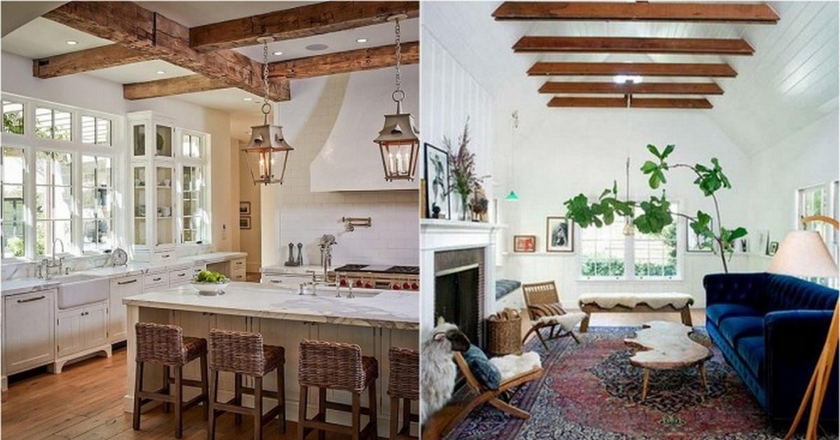 21 потрясающая дизайнерская идея для оформления комнат при помощи деревянных балок