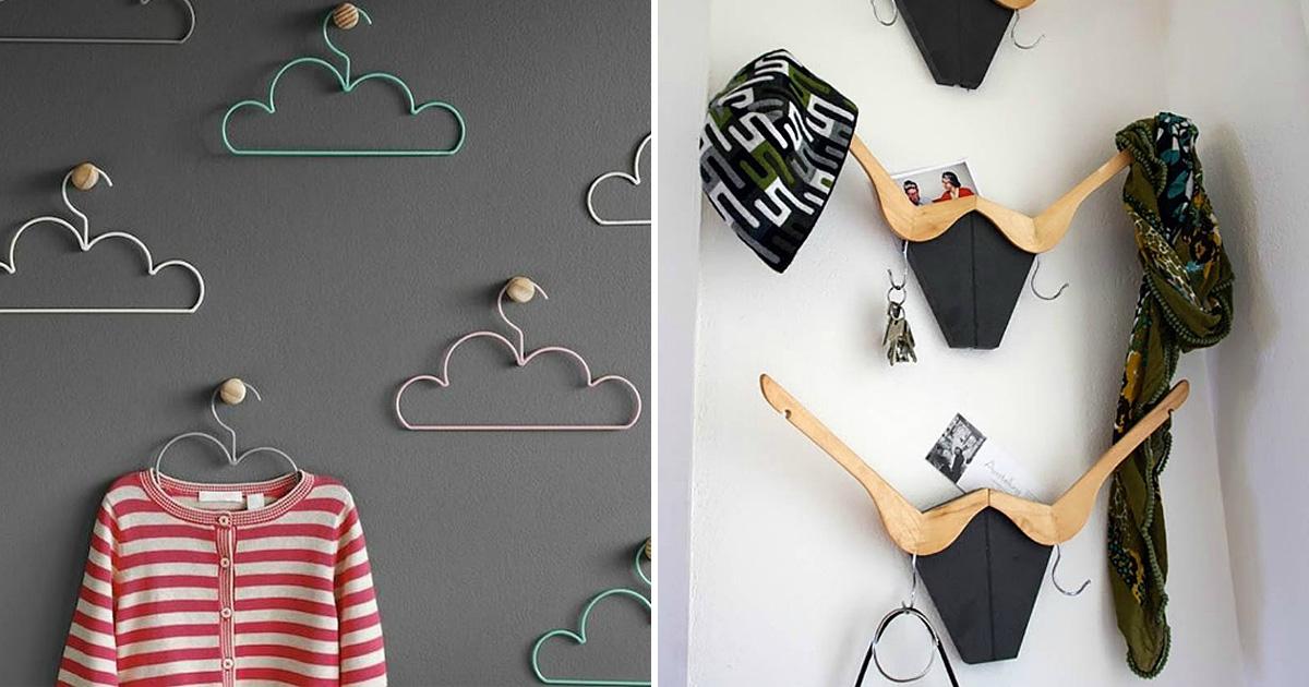 20 оригинальных вешалок с индивидуальным характером, которые прекрасно дополнят интерьер квартиры