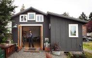 архитектура девушка перестроила гараж уютный домик площадью метров