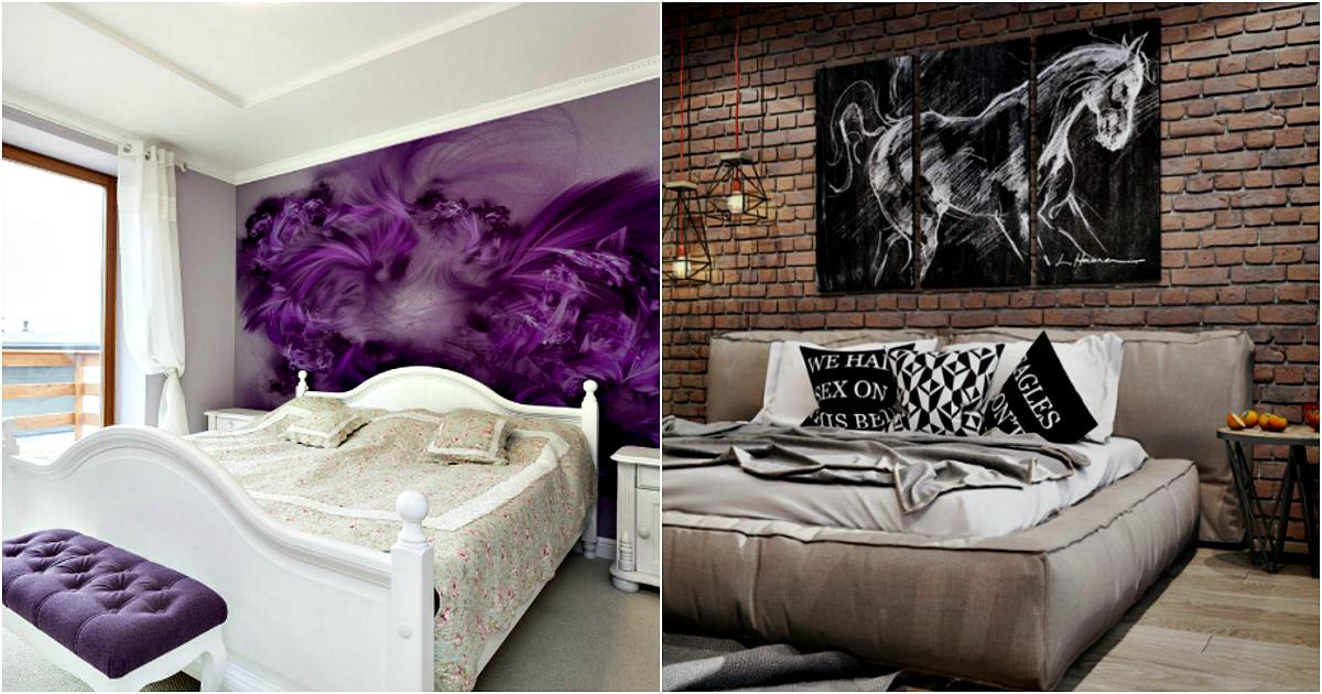 Правило одной стены: 17 эффектных примеров оформления стены в изголовье кровати