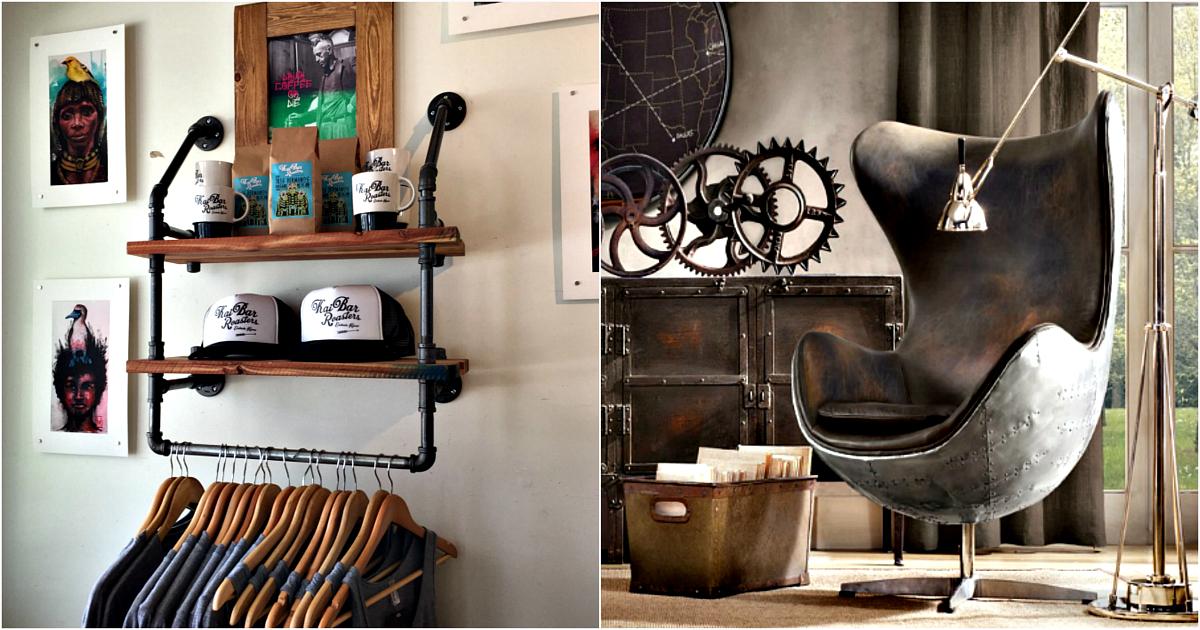 17 крутейших предметов мебели и элементов декора в индустриальном стиле