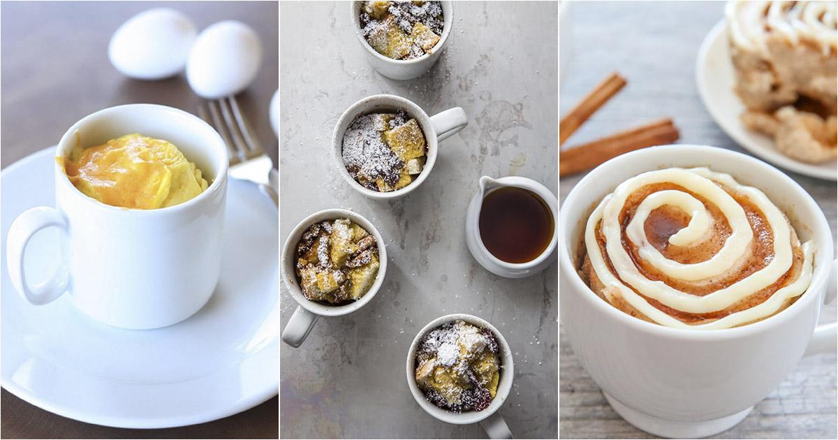 6 вкусных завтраков в чашке на скорую руку за 10 минут