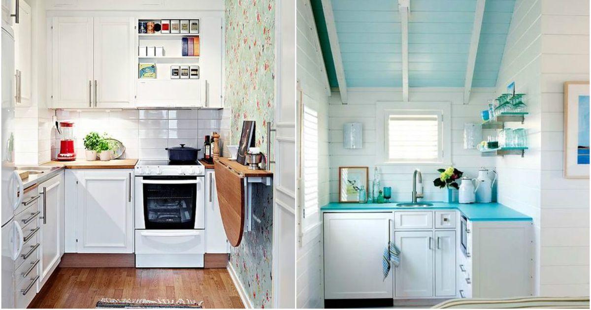 9 очаровательных идей для интерьера маленькой кухни