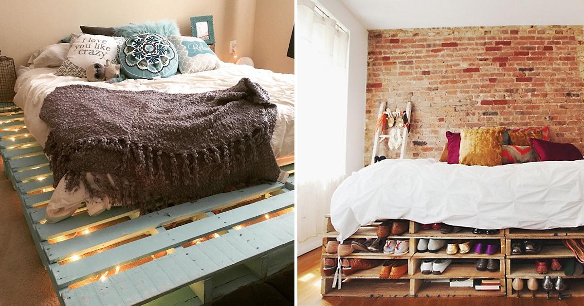 33 прекрасные идеи для создания кроватей из паллет, которые очаруют с первого взгляда