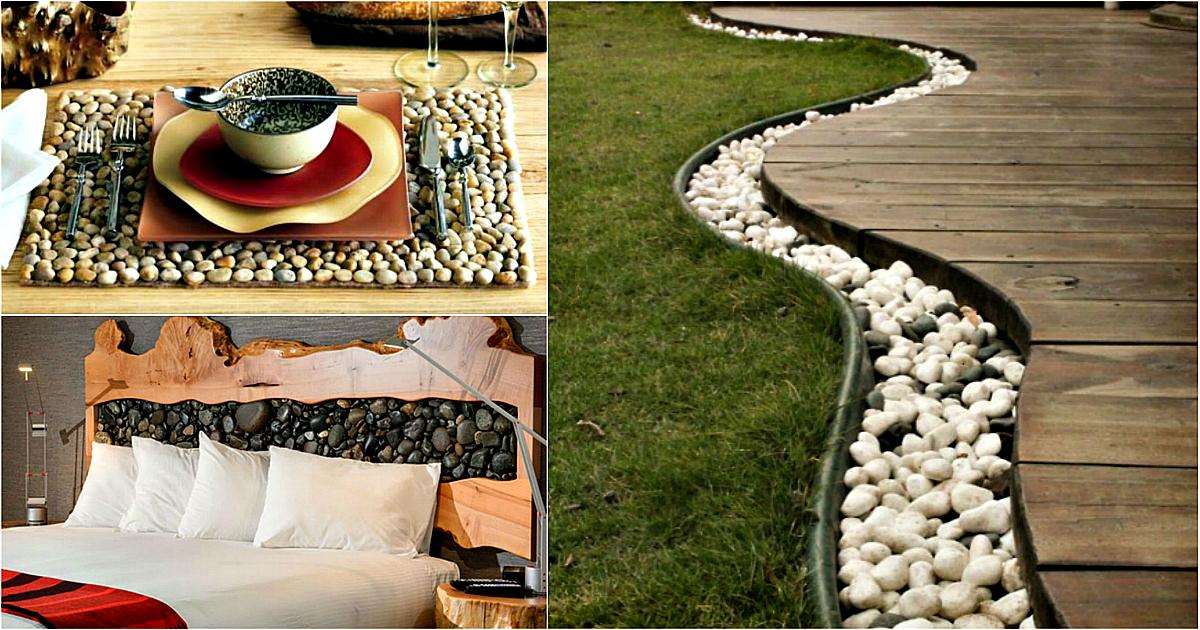 Элементы декора из морской гальки, которые непременно захочется сделать у себя дома или во дворе