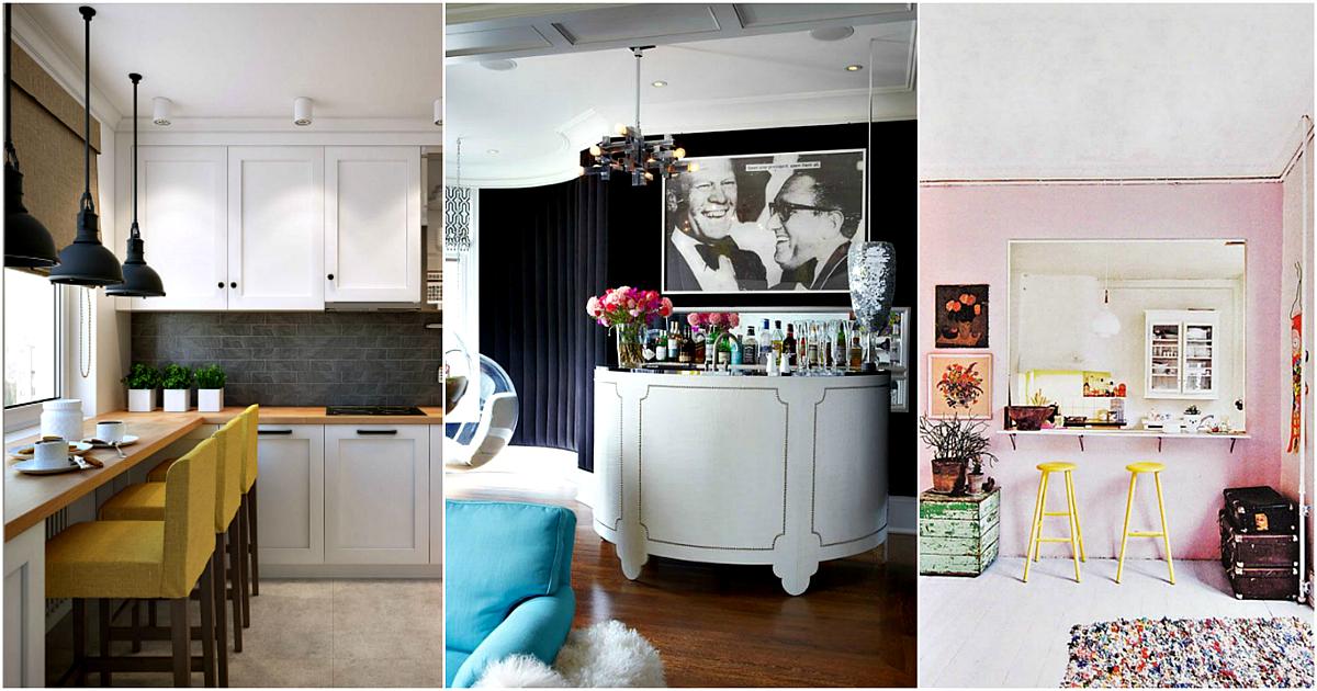 17 стильных и ультрасовременных интерьеров с барной стойкой