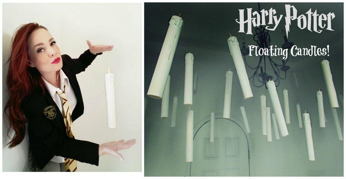 Люмус макисма!»: как просто сделать волшебные свечи, «парящие» под потолком