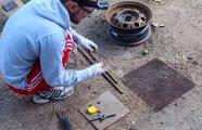 Гаджеты: Лайфхак по изготовлению мангала из колёсного диска за час