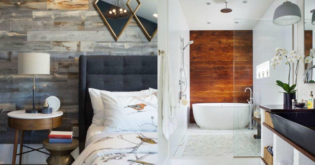 Деревянный декор: 10 креативных примеров отделки стен досками