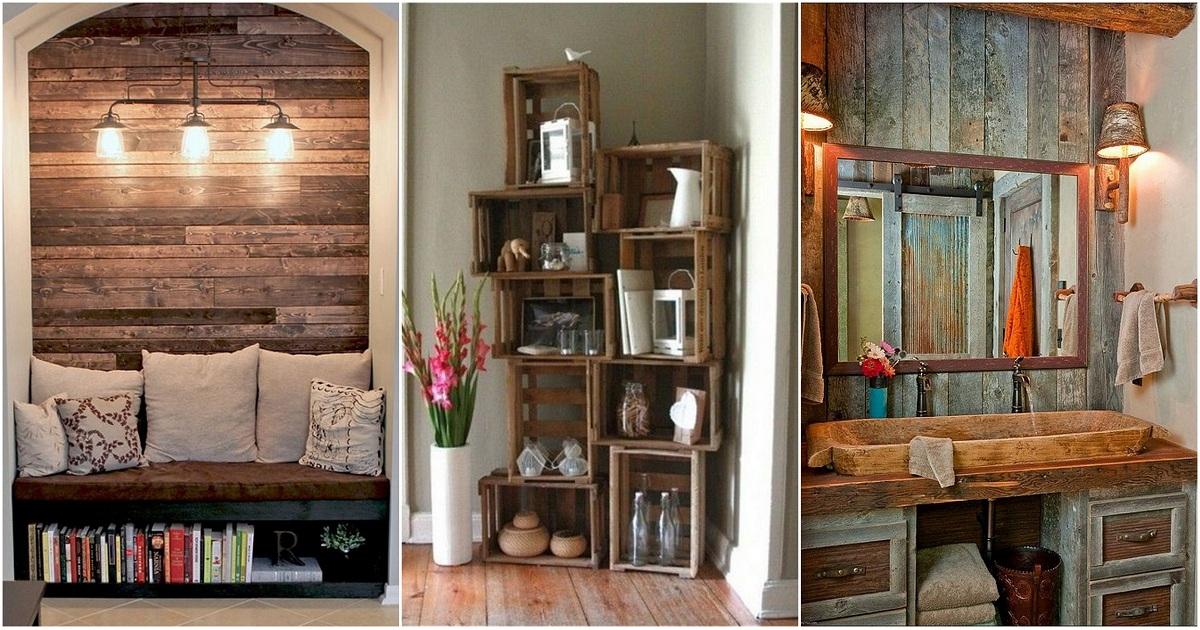 Деревенский стиль в оформлении дома