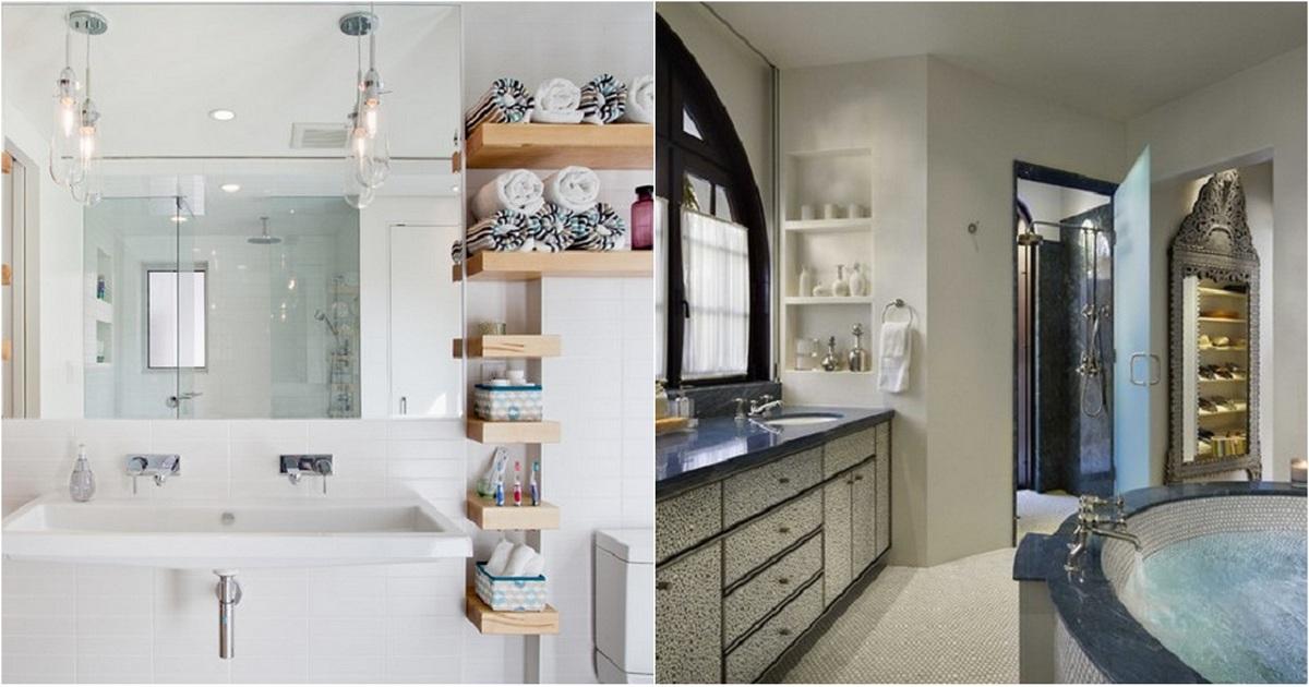 Самые современные варианты оформления душевых и ванных комнат
