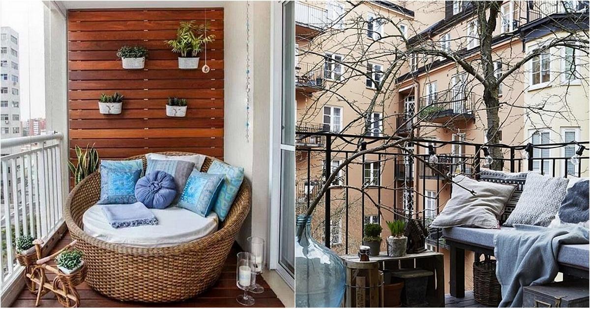 Оригинальные интерьеры балконов, которые создадут уют и комф.