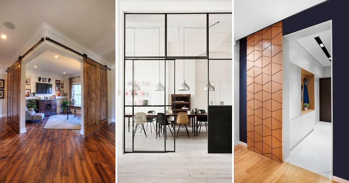 Удивительные примеры межкомнатных раздвижных дверей для каждого дома