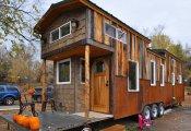 архитектура крошечный дом колесах площадью метров