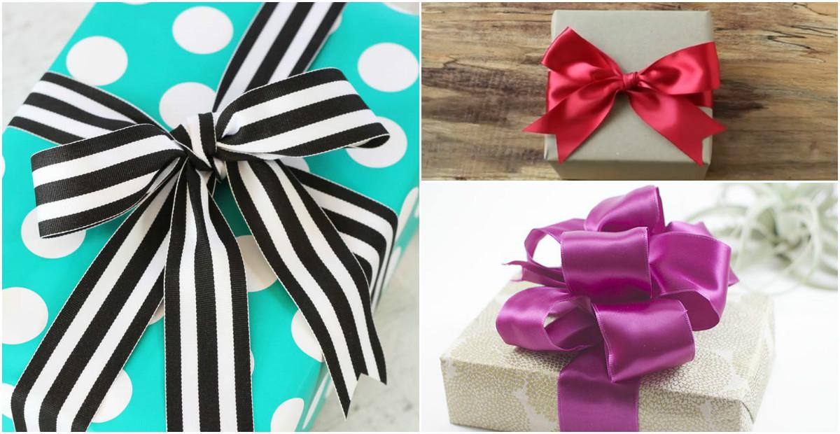 Как сделать идеальный бант для подарка